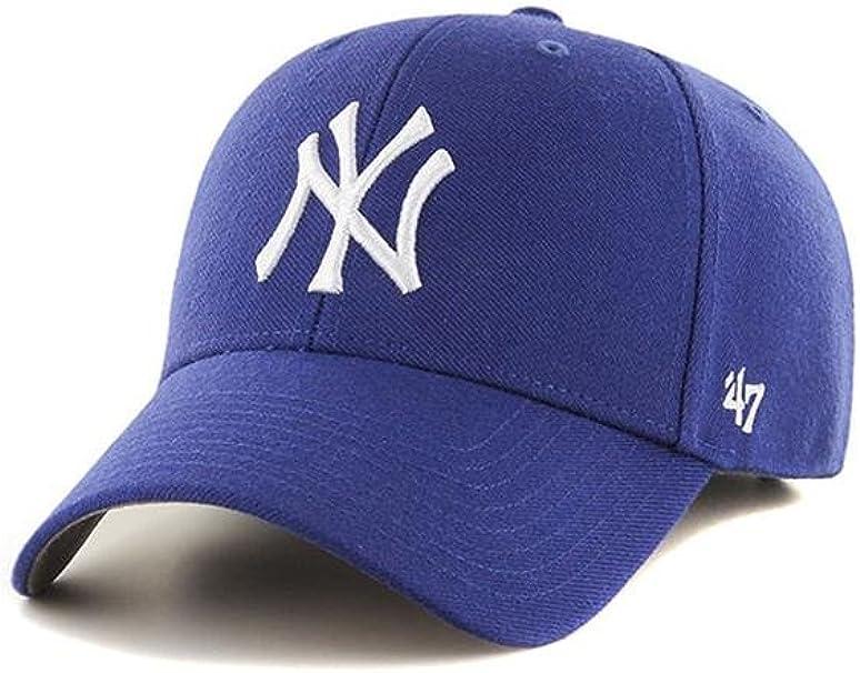 Gorra curva azul para niño de New York Yankees MLB MVP de 47 Brand ...