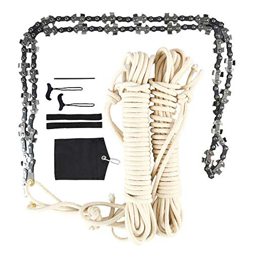 4YANG 48 Inch High Reach Tree Limb Hand Rope Hand Chain Saw, Cuts Branches Easily