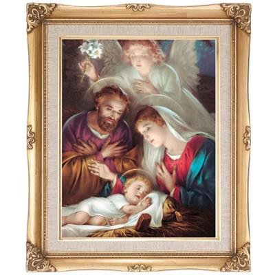 Nativity Scene Framed Art by Discount Catholic Store