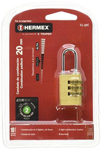 Hermex CL-20C, Candado de Combinación, 20mm
