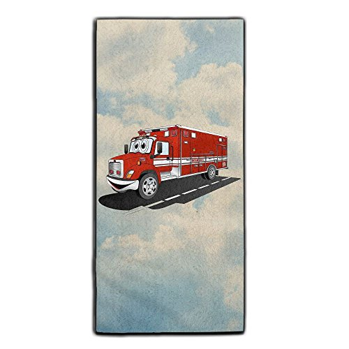 Monster Truck Driver Halloween Costume (Cartoon Rescue Squad Ambulance Decorative Kitchen Towels Perfect Vintage Modern Funny For Thanksgiving And Christmas Gifts)