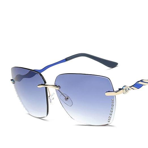 FUZHISI Gafas de Sol Cristal Diamante sin Montura Gafas de ...