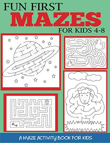 Halloween Books Activities First Grade (Fun First Mazes for Kids 4-8: A Maze Activity Book for Kids (Maze Books for)