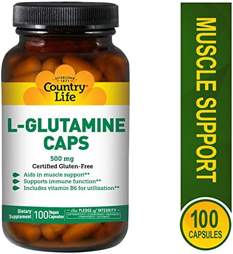 Country Life L Glutamine 500 B 6 product image