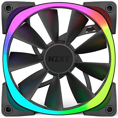 NZXT Aer RGB140 140mm RGB Case Fan 500-1500 RPM 23.9-71.6 CFM 22-33DBA 4-PIN PWM