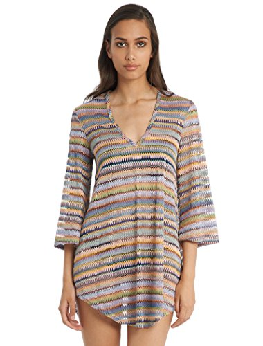 Elif Women's Crochets Tunic Swim Cover Up Rainbow S by Elif