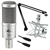 Heil Sound PR 40 Dynamic Cardioid Studio Microphone Bundle with PRSM Shock Mount, PL2T Overhead Studio and Broadcast Boom Mount and Microphone Cable