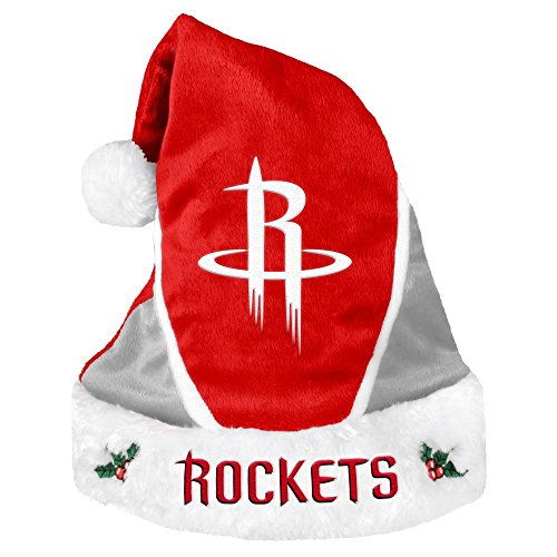 Houston Rockets Official NBA Colorblock Christmas Santa Hat by Forever Collectibles 608464