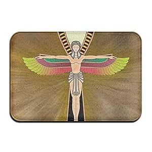 """Ancient egipcio Ankh rectangular Felpudo entrada para decoración Diámetro de 40x 60cm/15.7""""x 23.6"""" Welcome de terciopelo Coral alfombrilla"""
