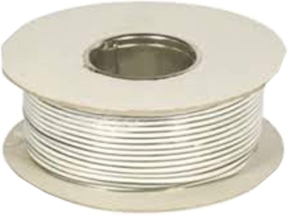 Cable para timbre de puerta, 2 núcleos, 0,5 mm, color blanco