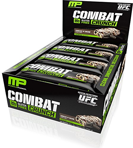 Muscle Pharm Combat Crunch Bar, Cookies/Cream, Net Wt 26.67o