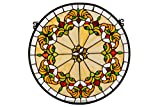 Meyda Middleton Medallion Stained Glass Window Panel