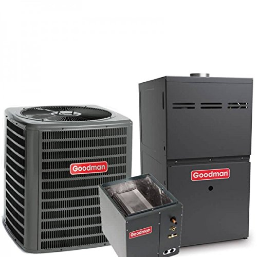 (5 Ton Goodman 16 SEER R410A 96% AFUE 120,000 BTU Two-Stage Variable Speed Upflow Gas Furnace Split System )