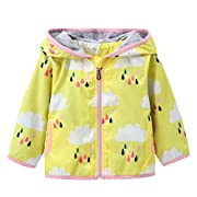 KONFA Teen Baby Boys Girls Rain Cloud Print Hooded Coat,Suitable For 0-5 Years Old,Fashion Jackets Sunscreen Cloak Tops (Yellow, 0-6 Months)