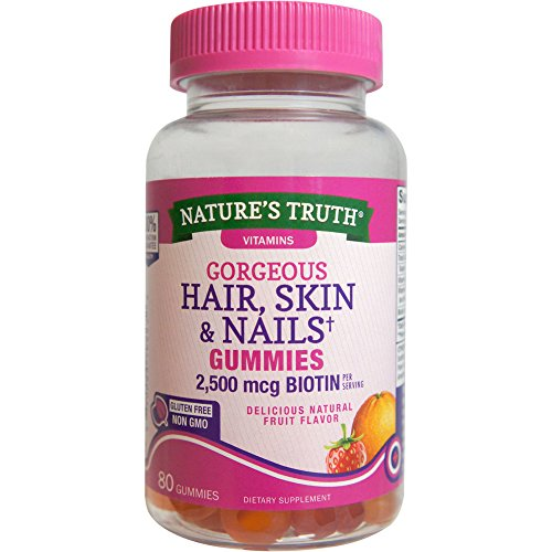 Cheap Nature's Truth Hair, Skin, Nails Natural Fruit Flavored Gummies, 80 Count
