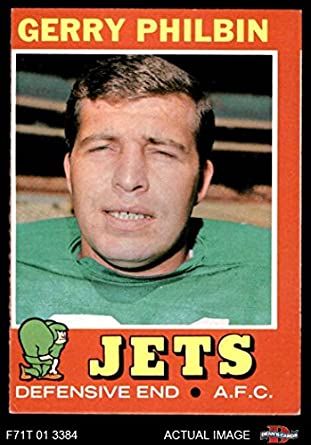 1971 Topps   98 Gerry Philbin New York Jets (Football Card) Dean s Cards 3 128a40492