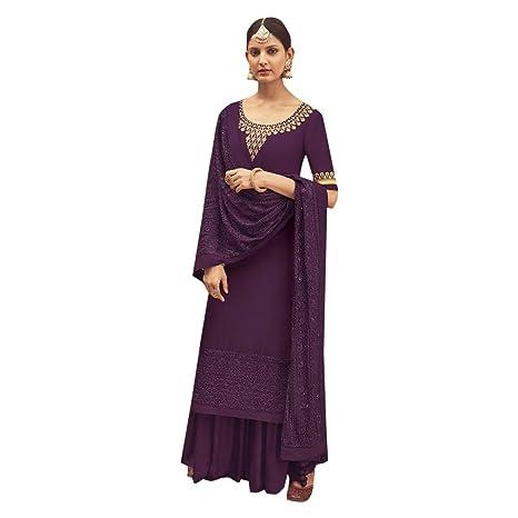 99db727157 Image Unavailable. Image not available for. Color: Pure Silk Punjabi  Pakistani Formal Wedding Function Garara Ready to Wear Salwar Kameez  Palazzo Muslim ...