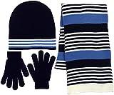 Boys 3 Piece Navy-Blue Hat, Scarf & Gloves Set