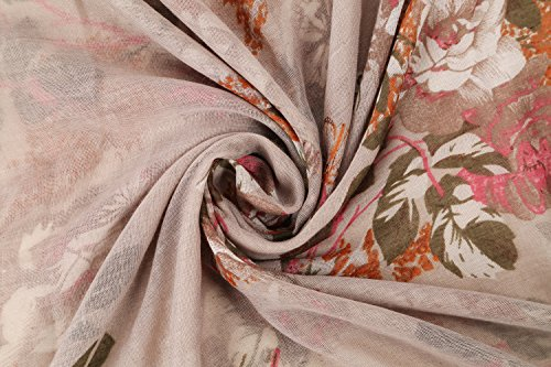 Infinity Scarfs for Women Loop Circle Fashion Scarf Floral Print Lightweight Scarves by RIIQIICHY (Image #3)'