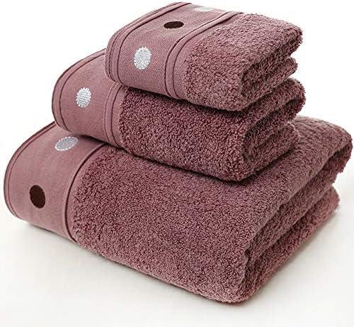 綿100% ホテル仕様 贅沢 デイリーセット,耐久性 瞬間吸水 タオルセット,ハンカチ フェイスタオル バスタオル プール用,スパ,とジム ブラウン 3枚組