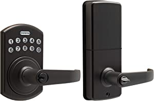 Signstek Keypad Entry Lever Door Lock with LED Backlit Keypad Password/Key Accessibles, Oil Rubbed Bronze