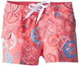 Kanu Surf Big Girls'  Peace and Love Boardshorts