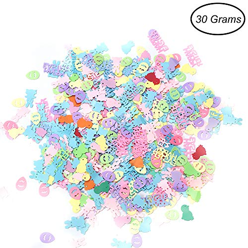 Eggs Confetti Easter (CCINEE Assorted Color Egg Confetti Plastic Egg Sequins Confetti for Easter Party Favors 30 Grams)