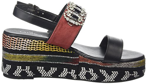 Tantra Ethnic Wedge Sandals with Strass - Sandalias para mujer Black