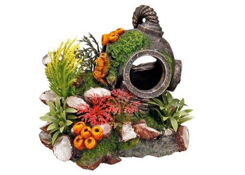 Nobby Casco con plantas, adorno de acuario 13,5 x 11 x 12 cm: Amazon.es: Productos para mascotas