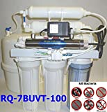 Home drinking 100 GPD 7 stage UV+RO+DI+TANK Complete Reverse Osmosis Water Filter System