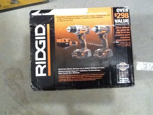 Ridgid R9600 X4 Hyper 18V Cordless Lithium-Ion 1/2 in. Drill Driver and Impact Driver...