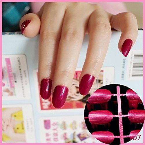 Echiq - Punta redondas ovaladas de cobertura completa para uñas postizas; manicura, uñas postizas, salón de belleza.: Amazon.es: Belleza