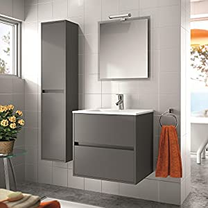 Salgar - Bathroom Furniture Set Noja 700 Grey Matt - White