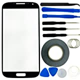 Samsung Galaxy S4 Screen Replacement Kit including 1 Replacement Screen Glass for Samsung Galaxy S4 i9500 / 1 Pair of Tweezers / Roll of 2mm Adhesive Tape / Tool Kit / Cleaning Cloth