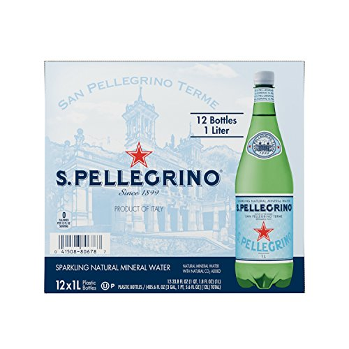 S.Pellegrino Sparkling Natural Mineral Water, 33.8 fl oz. (Pack of 12) (Sparkling Natural Clean)