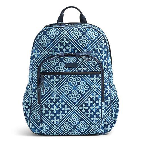 Women's Campus Tech Backpack, Signature Cotton, Cuban Tiles