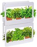 Mindful Design Stackable LED Indoor Garden - Grow Herbs, Succulents & Vegetables