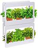 Mindful Design Stackable LED Indoor Garden - Grow Herbs, Succulents & Vegetables