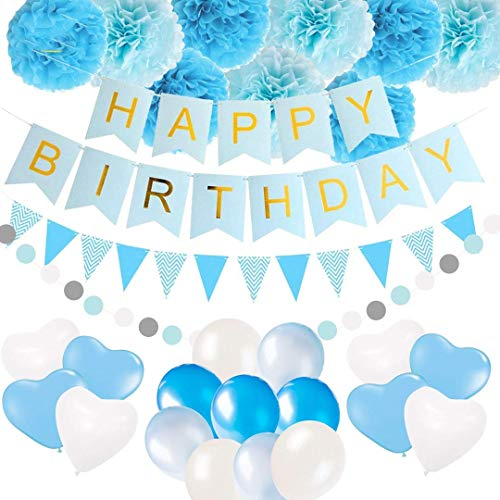 Happy Birthday BannerBirthday Decorations, Party Packs, Banner Balloons by Birthdays Gone Wild