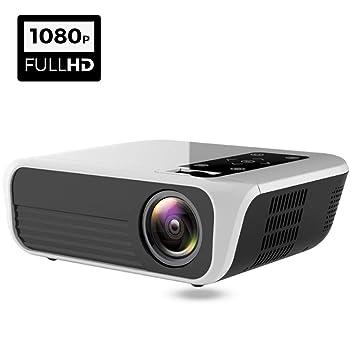 Proyector, 1920X1080 FHD Proyector Altavoz Soporte 4K Videos HDMI ...