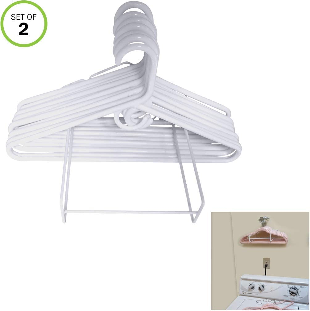 Evelots Hanger Organizer-Up to 50 Each-Wall/Free Standing-Laundry/Closet-Set/2