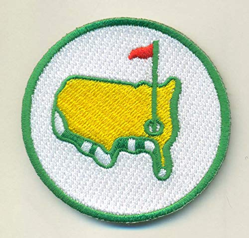 - THE MASTERS AUGUSTA IRON ON EMBROIDERED PATCH PATCHES .... SIZE - 2.0 X 2.0 INCHES ... EMBROIDERY 100%. GREEN JACKET GEORGIA TIGER WOODS TOURNAMNENT GOLF FLAG