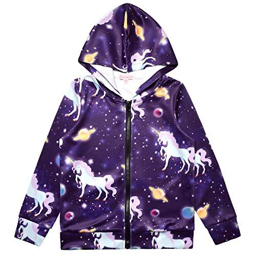 Unicorn Hoodie for Girls Sweatshirts Zip Up Jackets