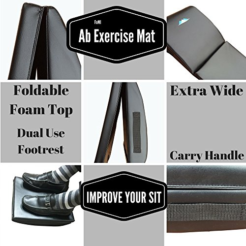 Large Exercise Ab Mat With Back Tailbone Protector By FOMI