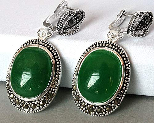 Vintage Silver Green Dangle Earring | Silver Earrings for Women | Natural Gem| Stone| Coral| Opal
