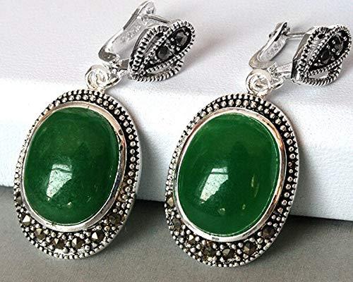 Vintage Silver Green Dangle Earring | Silver Earrings for Women | Natural Gem| Stone| Coral| Opal