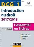 DCG 1 - Introduction au droit - 2017/2018 - 8e éd. - L'essentiel en fiches