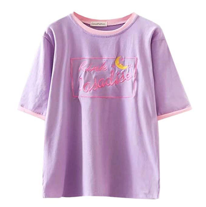Amazon.com: Dorathy Harajuku - Camiseta de manga corta para ...