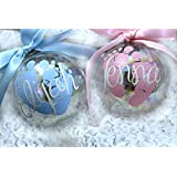 Amazing Personalized Baby's First Christmas Ornament/Custom Ornament/Christmas Ornament/Gift for New Moms