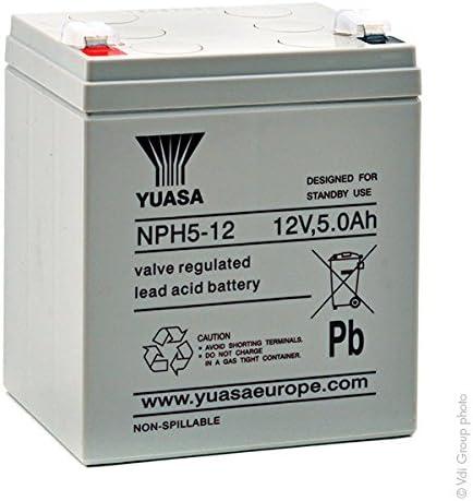 Yuasa - Batería SAI NPH5-12 12V 5Ah F6.35